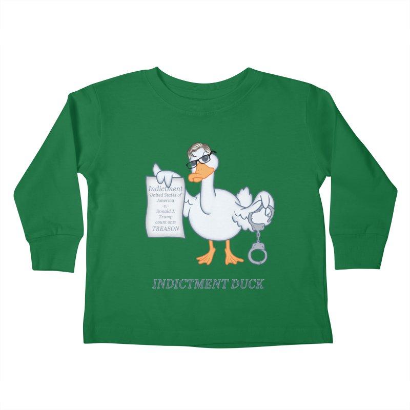 Indictment Duck Kids Toddler Longsleeve T-Shirt by Frankenstein's Artist Shop