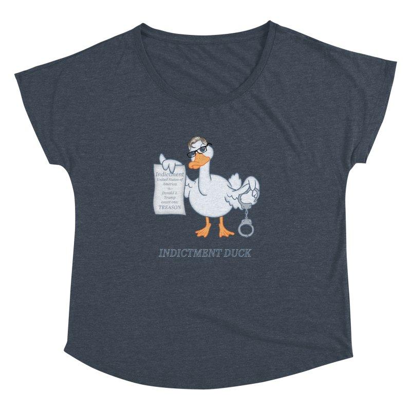 Indictment Duck Women's Dolman Scoop Neck by Frankenstein's Artist Shop