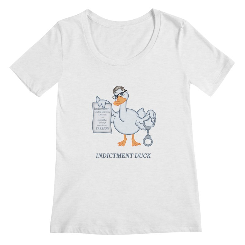 Indictment Duck Women's Regular Scoop Neck by Frankenstein's Artist Shop