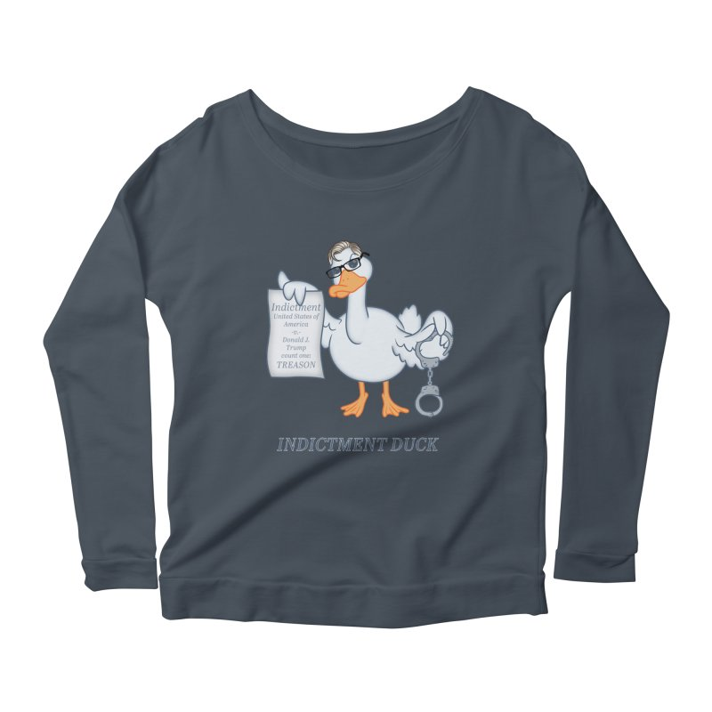 Indictment Duck Women's Scoop Neck Longsleeve T-Shirt by Frankenstein's Artist Shop