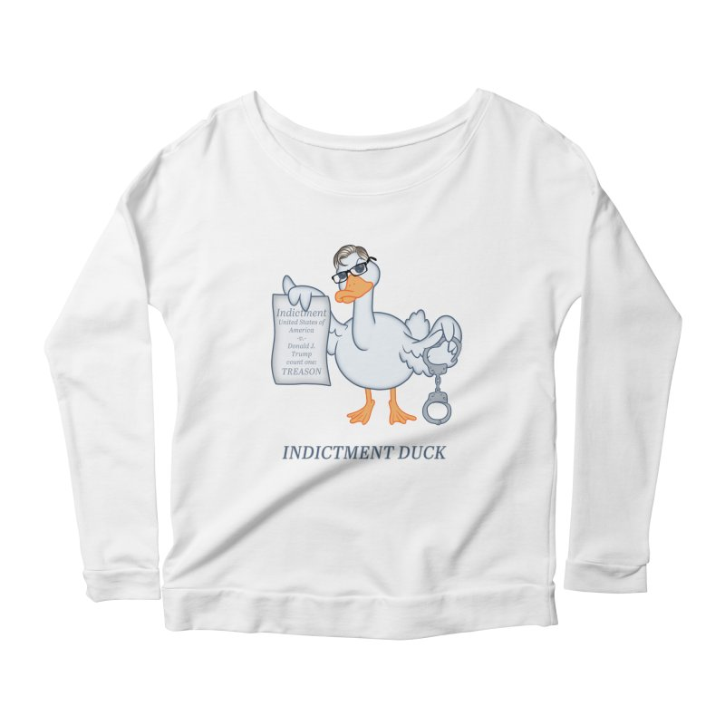 Indictment Duck Women's Scoop Neck Longsleeve T-Shirt by Frankenstein's Artist Shop