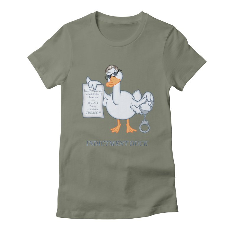 Indictment Duck Women's Fitted T-Shirt by Frankenstein's Artist Shop