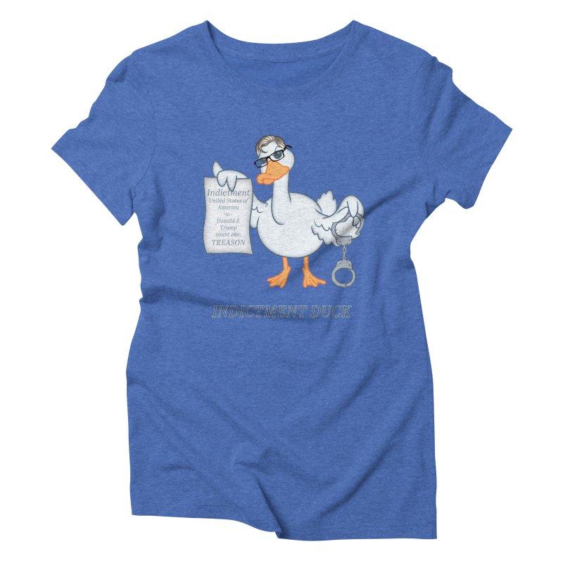 Indictment Duck Women's Triblend T-Shirt by Frankenstein's Artist Shop