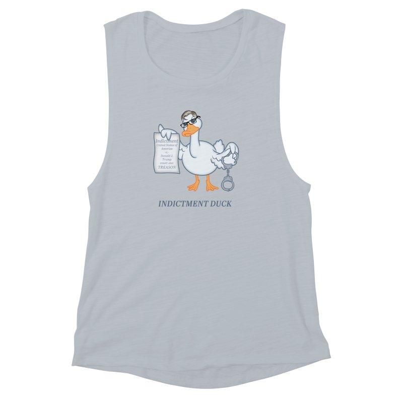 Indictment Duck Women's Muscle Tank by Frankenstein's Artist Shop