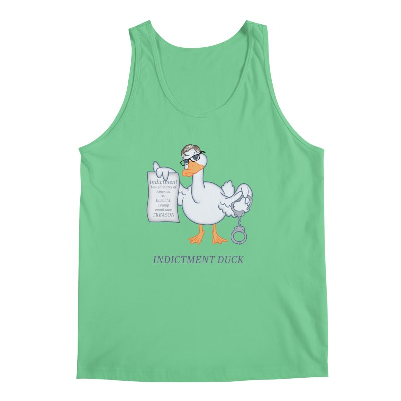 Indictment Duck Men's Regular Tank by Frankenstein's Artist Shop