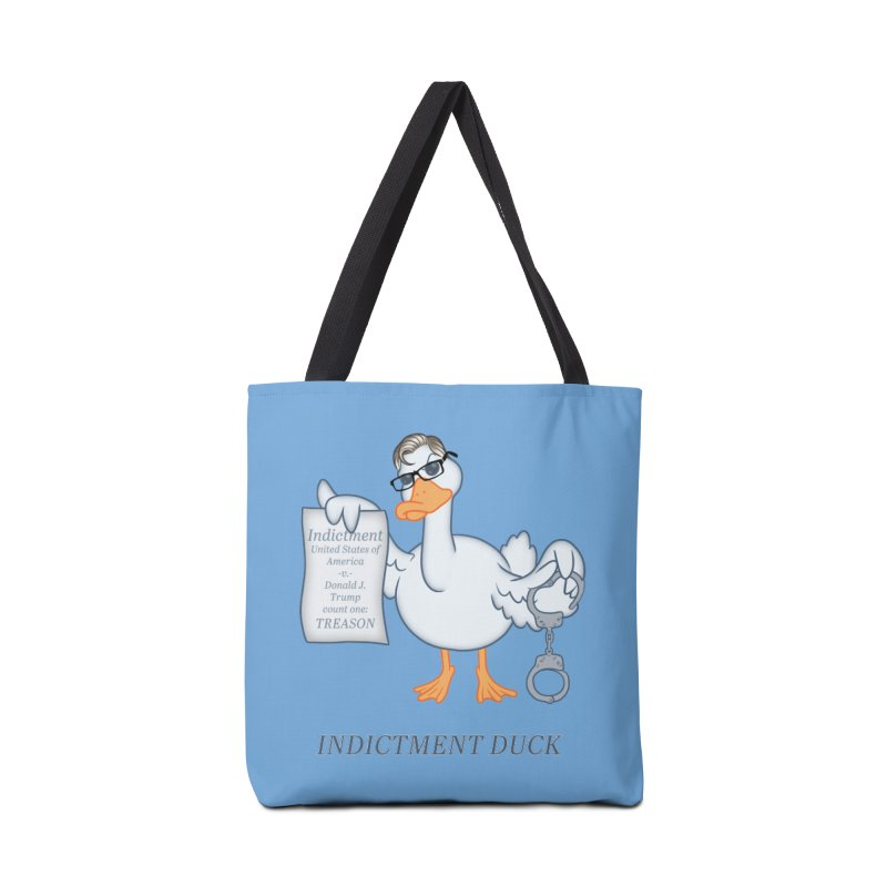 Indictment Duck Accessories Tote Bag Bag by Frankenstein's Artist Shop
