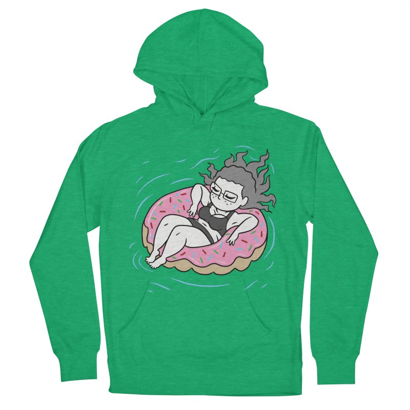 Donut Disturb! Men's French Terry Pullover Hoody by Frankenstein's Artist Shop