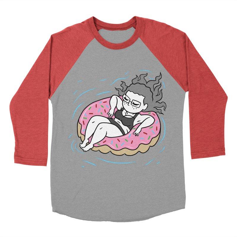 Donut Disturb! Women's Baseball Triblend Longsleeve T-Shirt by Frankenstein's Artist Shop