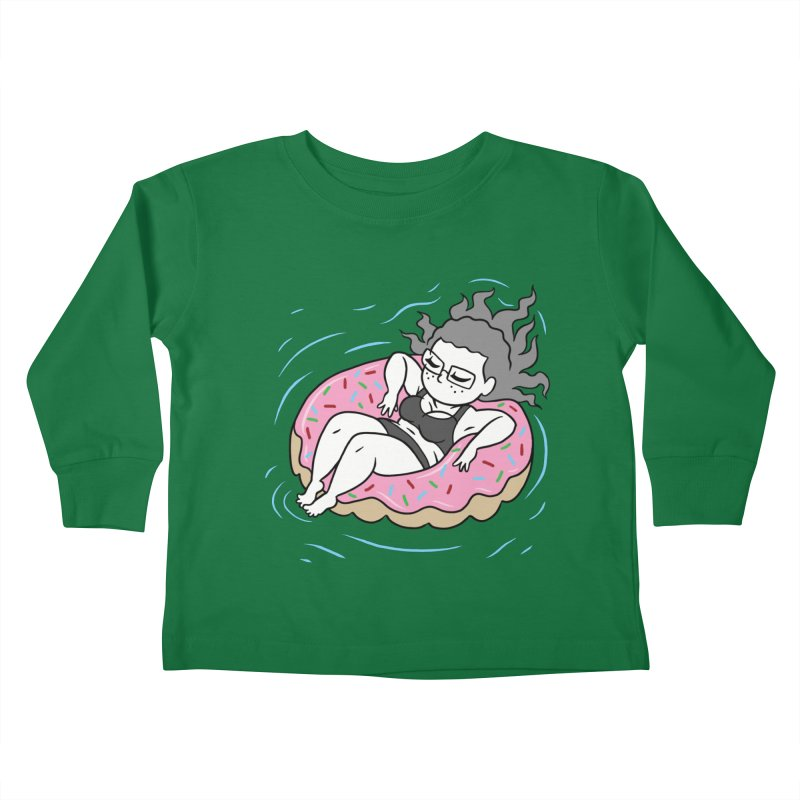 Donut Disturb! Kids Toddler Longsleeve T-Shirt by Frankenstein's Artist Shop