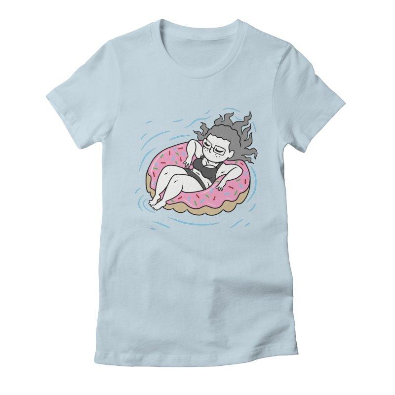 Donut Disturb! Women's Fitted T-Shirt by Frankenstein's Artist Shop