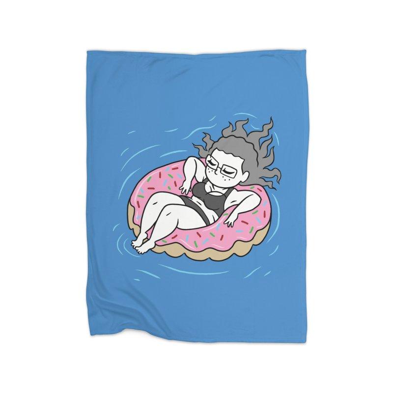 Donut Disturb! Home Fleece Blanket Blanket by Frankenstein's Artist Shop