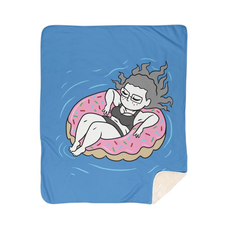 Donut Disturb! Home Sherpa Blanket Blanket by Frankenstein's Artist Shop