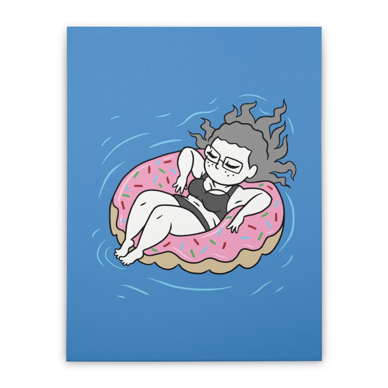 Donut Disturb! Home Stretched Canvas by Frankenstein's Artist Shop