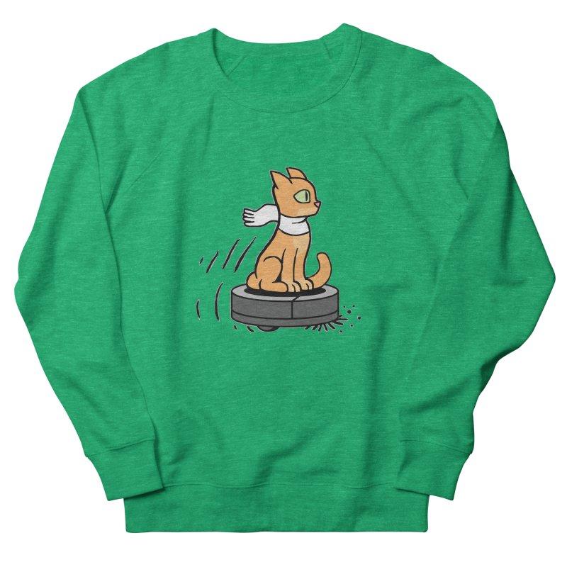 Cat on Robot Vacuum Women's Sweatshirt by Frankenstein's Artist Shop