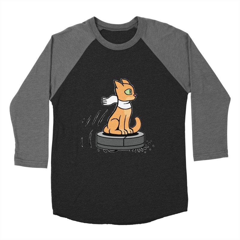 Cat on Robot Vacuum Women's Baseball Triblend Longsleeve T-Shirt by Frankenstein's Artist Shop