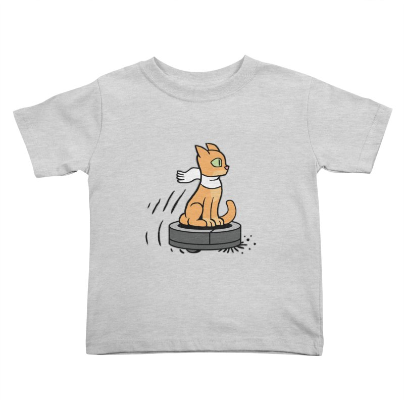 Cat on Robot Vacuum Kids Toddler T-Shirt by Frankenstein's Artist Shop