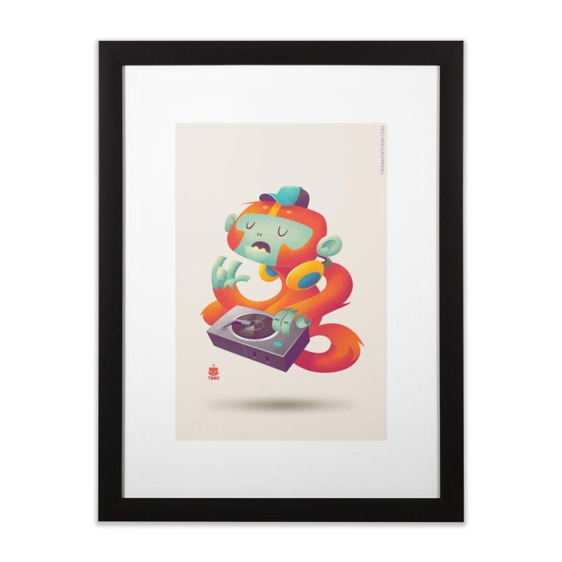Stereo Monkey by Frankentoon Home Framed Fine Art Print by Frankentoon Merchandise