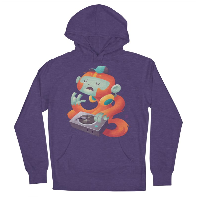 Stereo Monkey by Frankentoon Women's French Terry Pullover Hoody by Frankentoon Merchandise
