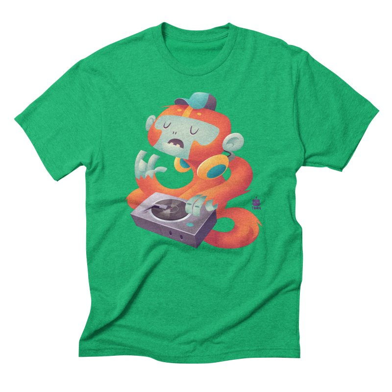 Stereo Monkey by Frankentoon Men's Triblend T-Shirt by Frankentoon Merchandise