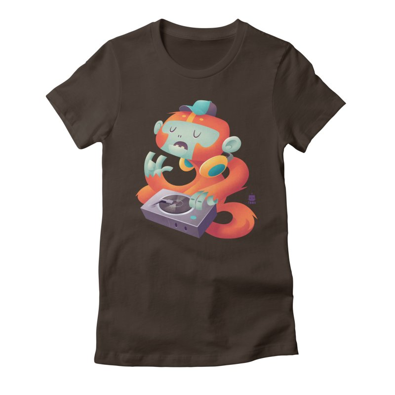 Stereo Monkey by Frankentoon Women's Fitted T-Shirt by Frankentoon Merchandise