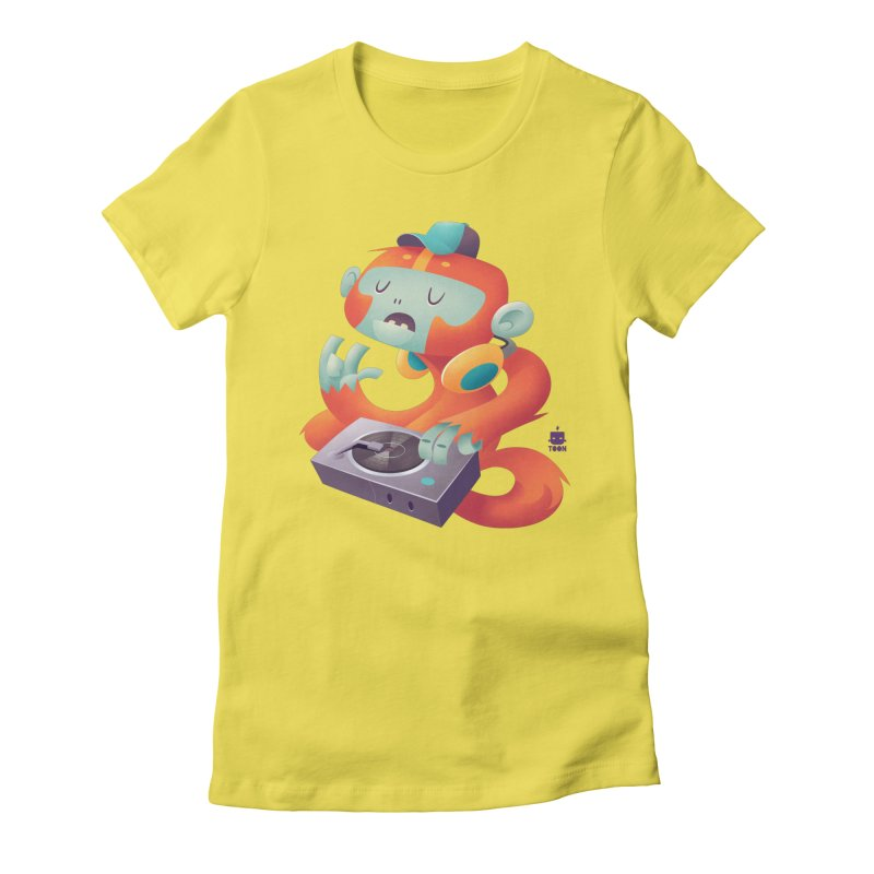 Stereo Monkey by Frankentoon Women's T-Shirt by Frankentoon Merchandise