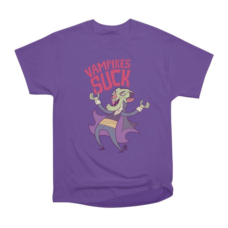 Vampires Suck by Frankentoon Women's Heavyweight Unisex T-Shirt by Frankentoon Merchandise