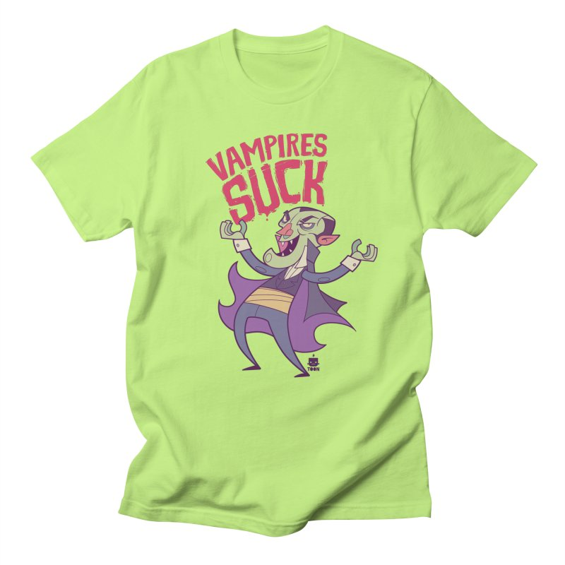 Vampires Suck by Frankentoon Men's Regular T-Shirt by Frankentoon Merchandise