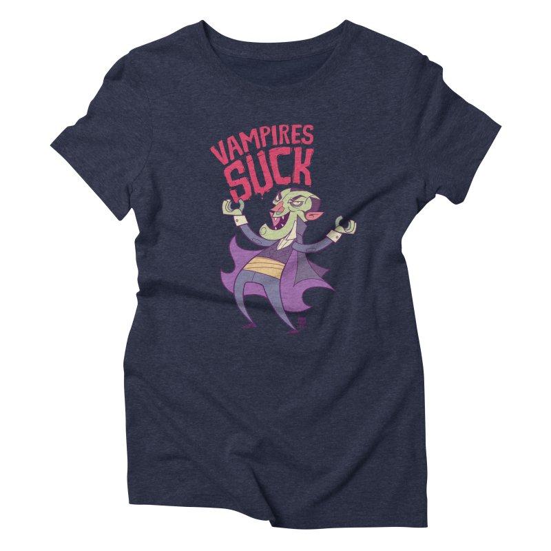 Vampires Suck by Frankentoon Women's Triblend T-Shirt by Frankentoon Merchandise