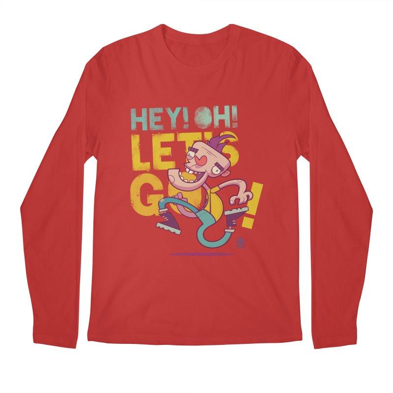 Let's Go! by Frankentoon Men's Regular Longsleeve T-Shirt by Frankentoon Merchandise