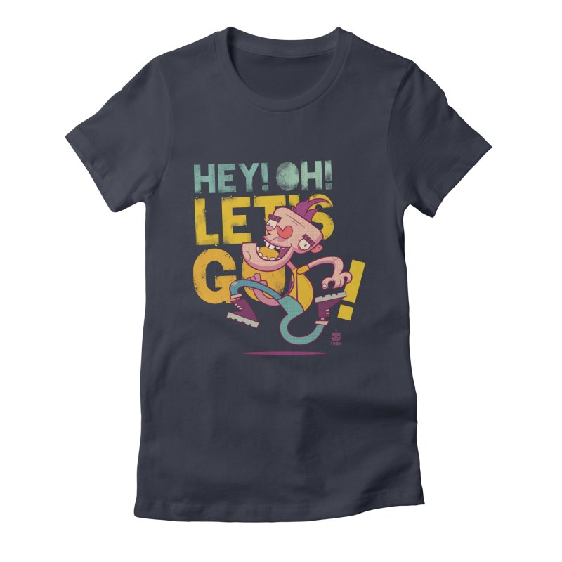 Let's Go! by Frankentoon Women's Fitted T-Shirt by Frankentoon Merchandise