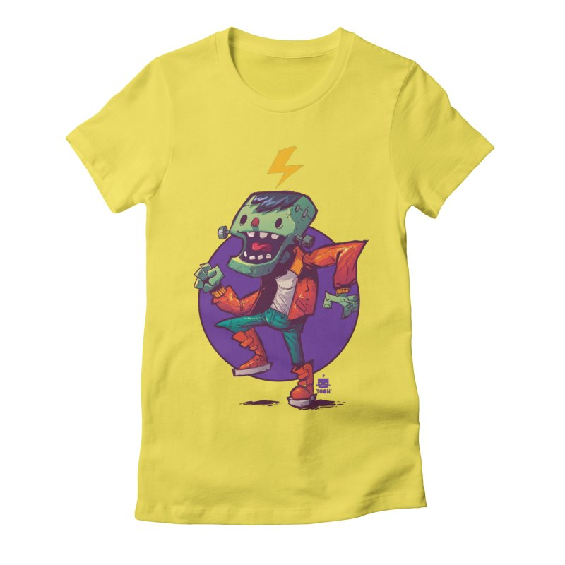 Frankie Dance by Frankentoon Women's Fitted T-Shirt by Frankentoon Merchandise
