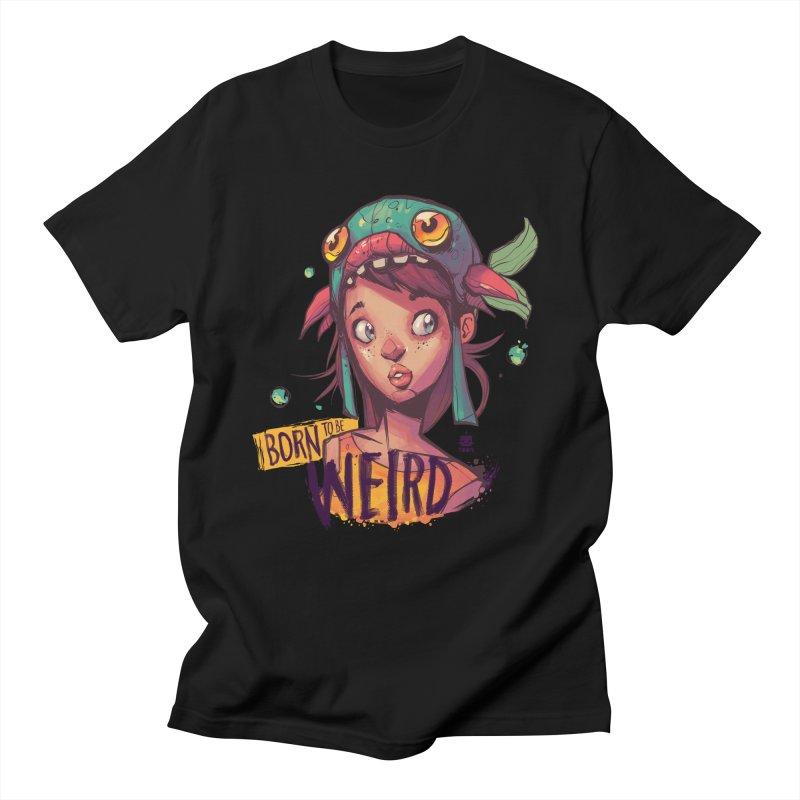 Born to be Weird by Frankentoon Men's Regular T-Shirt by Frankentoon Merchandise