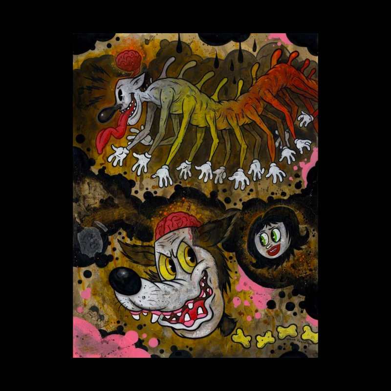 Centipede Terrors art by Frank Forte Pop Surrealism Dark Art Men's T-Shirt by Frank Forte's Artist Shop