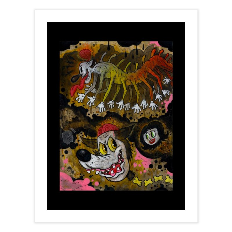 Centipede Terrors art by Frank Forte Pop Surrealism Dark Art Home Fine Art Print by Frank Forte's Artist Shop