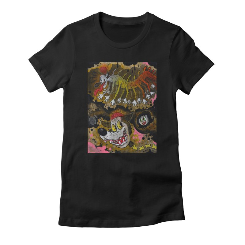 Centipede Terrors art by Frank Forte Pop Surrealism Dark Art Women's T-Shirt by Frank Forte's Artist Shop