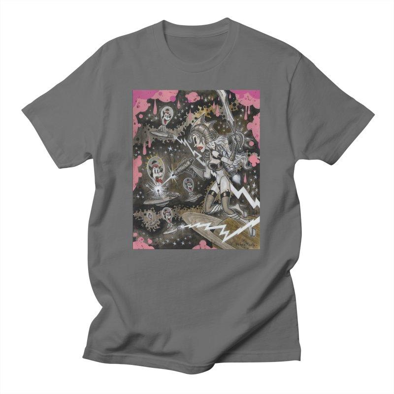 Molly's Invaders art by Frank Forte Pop Surrealism Dark Art Men's T-Shirt by Frank Forte's Artist Shop