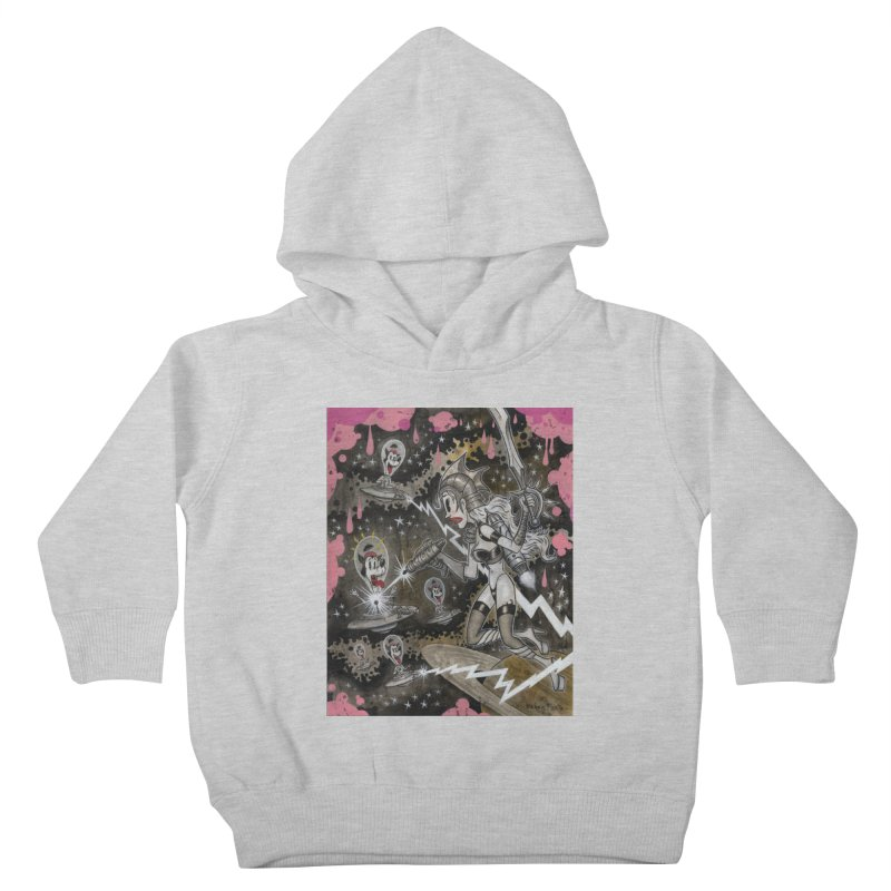 Molly's Invaders art by Frank Forte Pop Surrealism Dark Art Kids Toddler Pullover Hoody by Frank Forte's Artist Shop