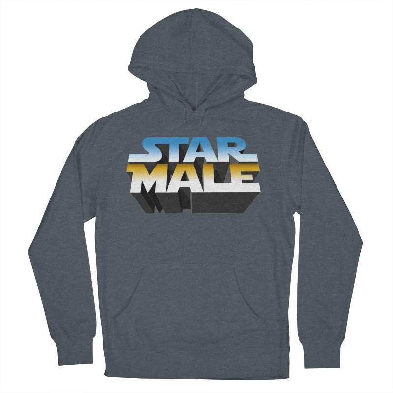 Star Male Women's French Terry Pullover Hoody by Frankie hi-nrg mc & le magliette