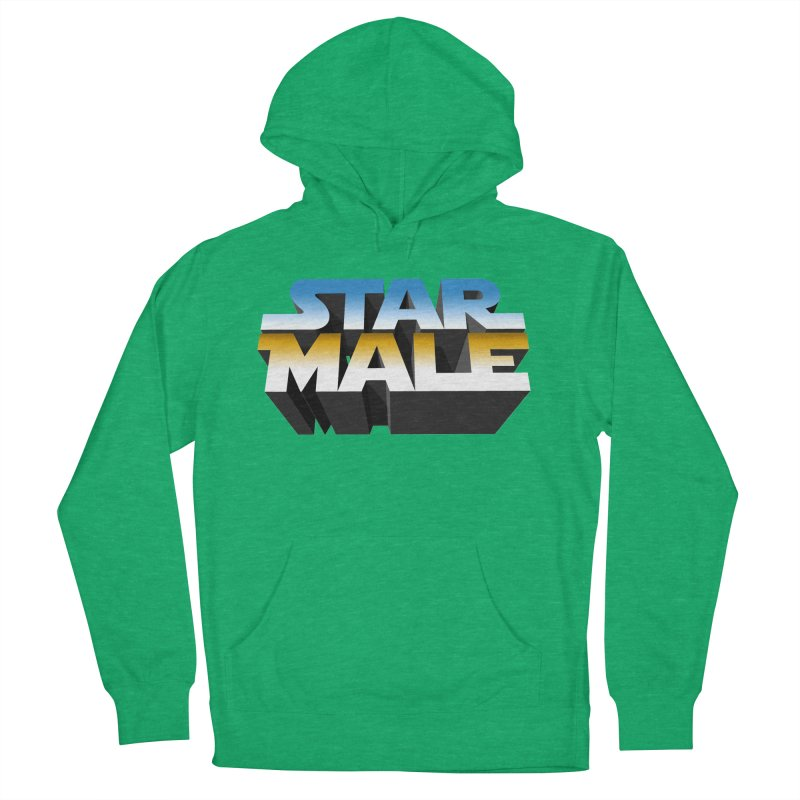 Star Male Men's French Terry Pullover Hoody by Frankie hi-nrg mc & le magliette
