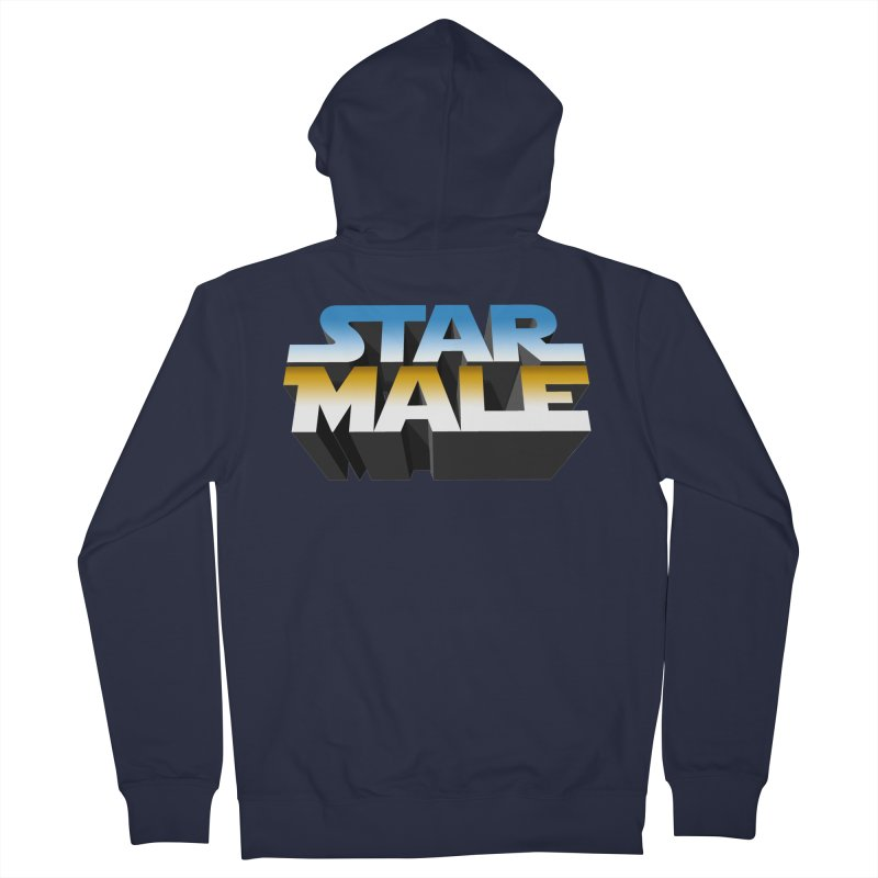 Star Male Men's French Terry Zip-Up Hoody by Frankie hi-nrg mc & le magliette