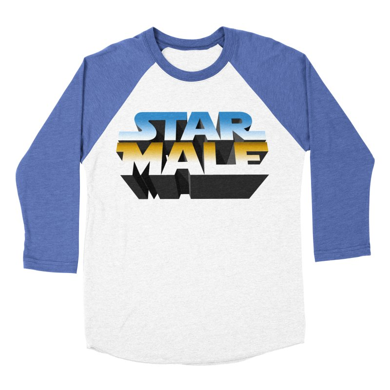 Star Male Women's Baseball Triblend T-Shirt by Frankie hi-nrg mc & le magliette