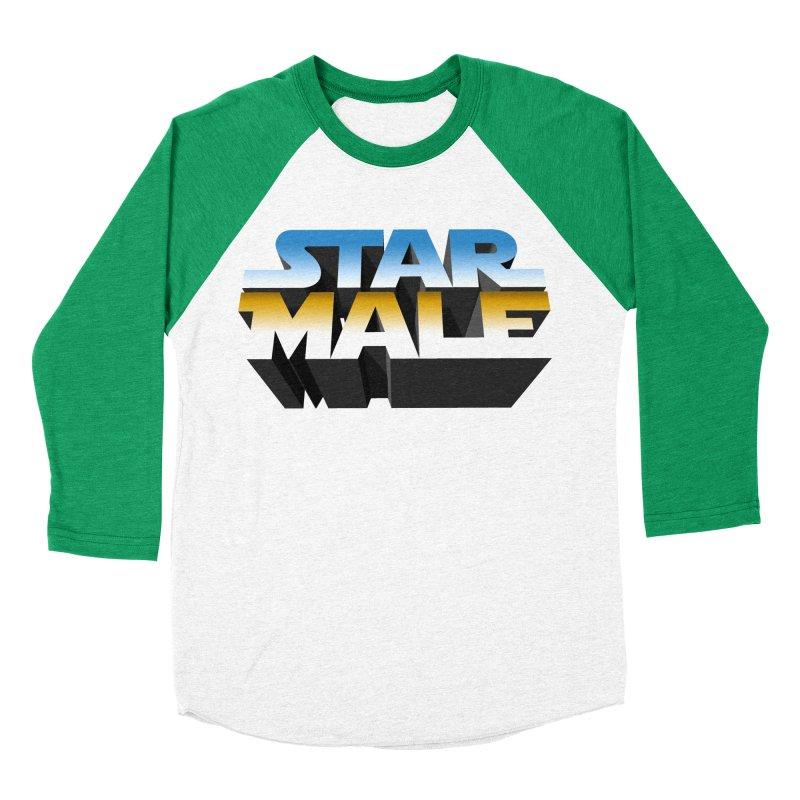 Star Male Women's Baseball Triblend T-Shirt by Frankie hi-nrg mc & le magliette