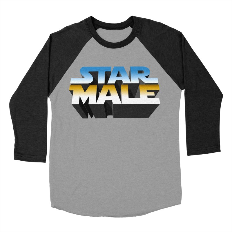 Star Male Women's Baseball Triblend Longsleeve T-Shirt by Frankie hi-nrg mc & le magliette