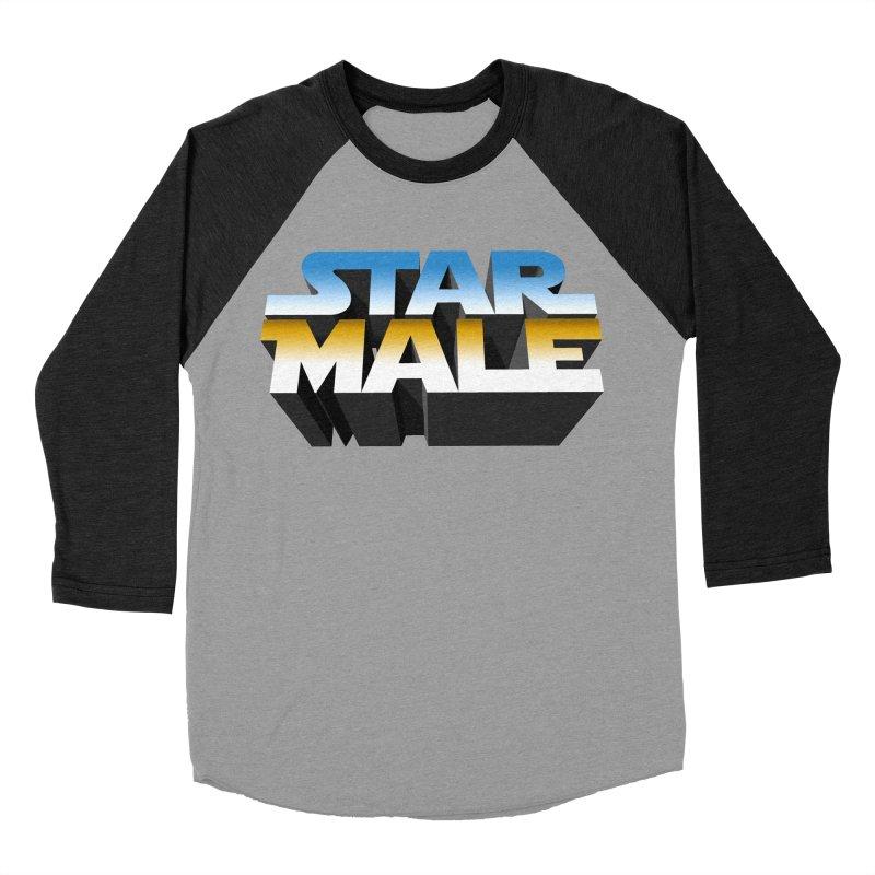 Star Male Men's Baseball Triblend Longsleeve T-Shirt by Frankie hi-nrg mc & le magliette