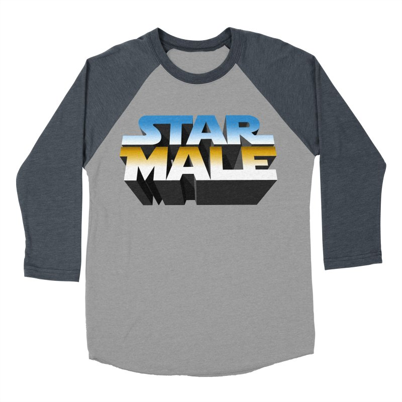 Star Male Men's Baseball Triblend T-Shirt by Frankie hi-nrg mc & le magliette