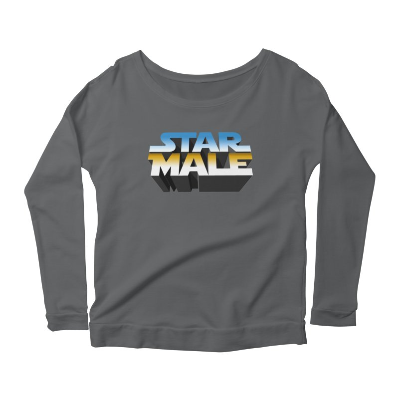 Star Male Women's Longsleeve Scoopneck  by Frankie hi-nrg mc & le magliette