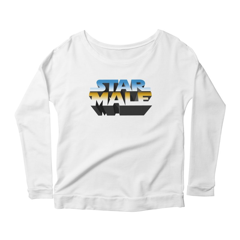 Star Male Women's Scoop Neck Longsleeve T-Shirt by Frankie hi-nrg mc & le magliette