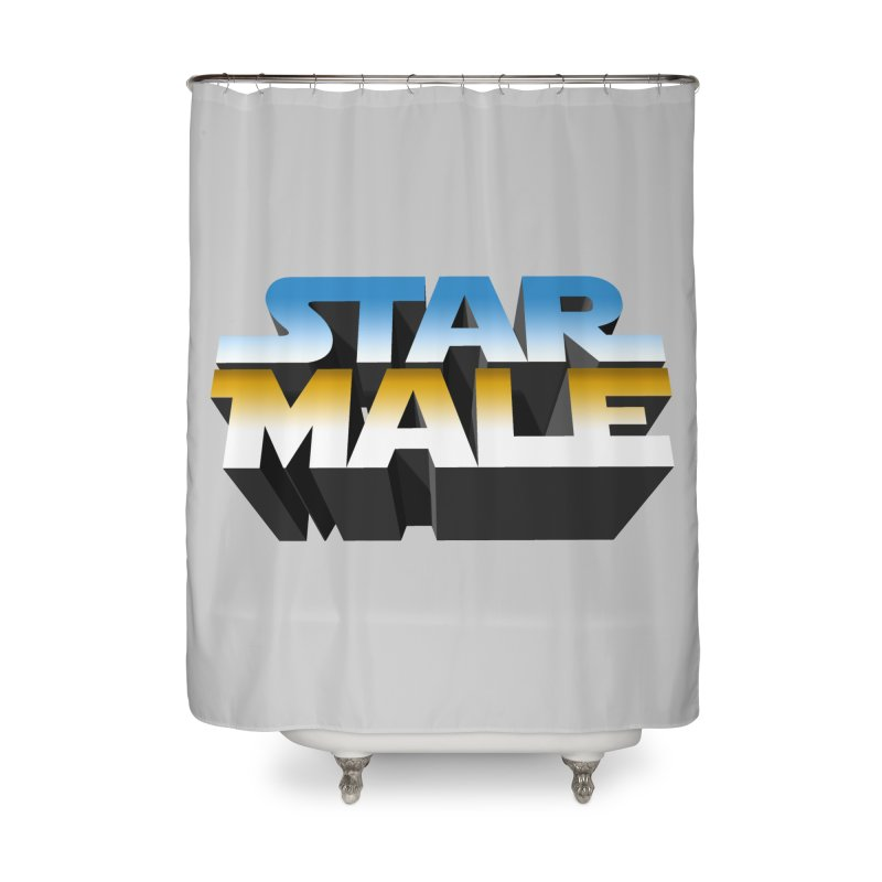 Star Male Home Shower Curtain by Frankie hi-nrg mc & le magliette