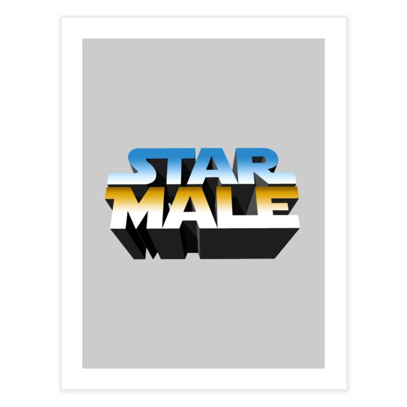 Star Male Home Fine Art Print by Frankie hi-nrg mc & le magliette