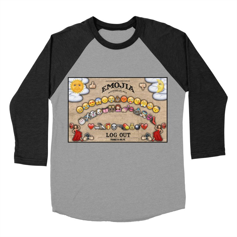 EMOJIA Men's Baseball Triblend T-Shirt by Frankie hi-nrg mc & le magliette
